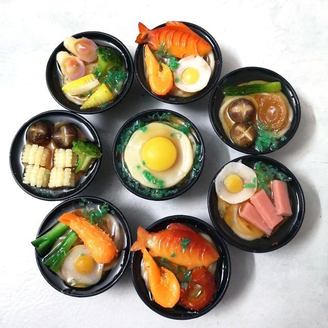 2 個 1/6 スケールミニチュア日本シーフード麺ふり食品ドールハウスキッチンのためにブライスbjd人形のための子供