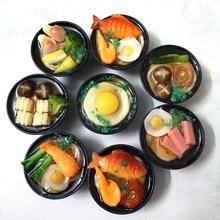 Miniaturas de macarrão japonês, 2 peças, 1/6 escala, comida pra boneca, cozinha para barbies, blyth bjd crianças