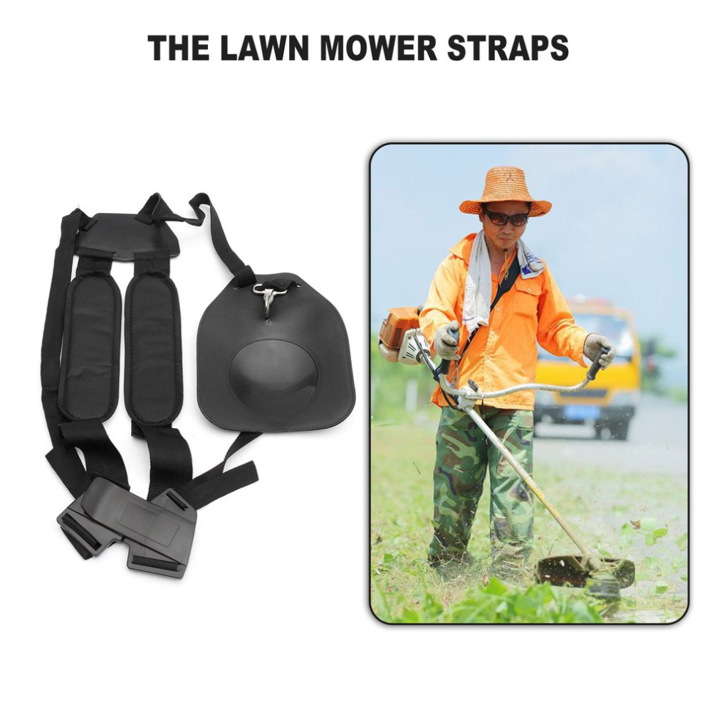 Double Shoulder Harness Lawn Mower Strap Trimmer Brush Cutter Harness Belt Lawn Mower Strap for Garden Grass Cutter &Trimmer 2017 safe double shoulder strap harness net bag for brush cutter grass trimmer mayitr lawn mower parts garden tools orange