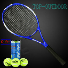High Quality Tennis Racket Integrally Molded Carbon Composite Racquets + 3pcs/pack Natural Rubber High Elastic Tennis Balls