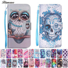 Biencaso Owl Flower Tree Pattern PU leather Wallet Flip Case for LG K7 X210 X210DS LG K8 K350N LG Stylo Stylus 2 LS775 Cover B21(China)