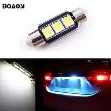 BOAOSI 1x Canbus No Error 36MM C5W LED License Plate Light for Mercedes Benz W208 W209 W203 W169 W210 W211 W212 AMG CLK