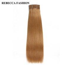 Rebecca Remy бразильский яки прямо Человеческие волосы переплетения 1 пучок коричневый цветные красоты волос 4 # высокий коэффициент длинные волосы pp 40%