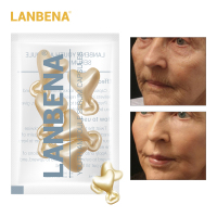 LANBENA 24K Gold Peptide Wrinkles Face Ampoule Capsule Facial Cream Acne Skin Whitening Serum Anti-Aging Lifting Firming 5 Grain Face Care Serum
