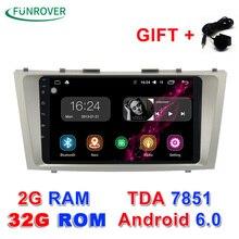 Nueva Funrover 1024*600 Android 6.0 2g + 32 grom Gps de Navegación Dvd Para Toyota Camry 2008 2009 2010 2011 4g Wifi Radio Rds Bt
