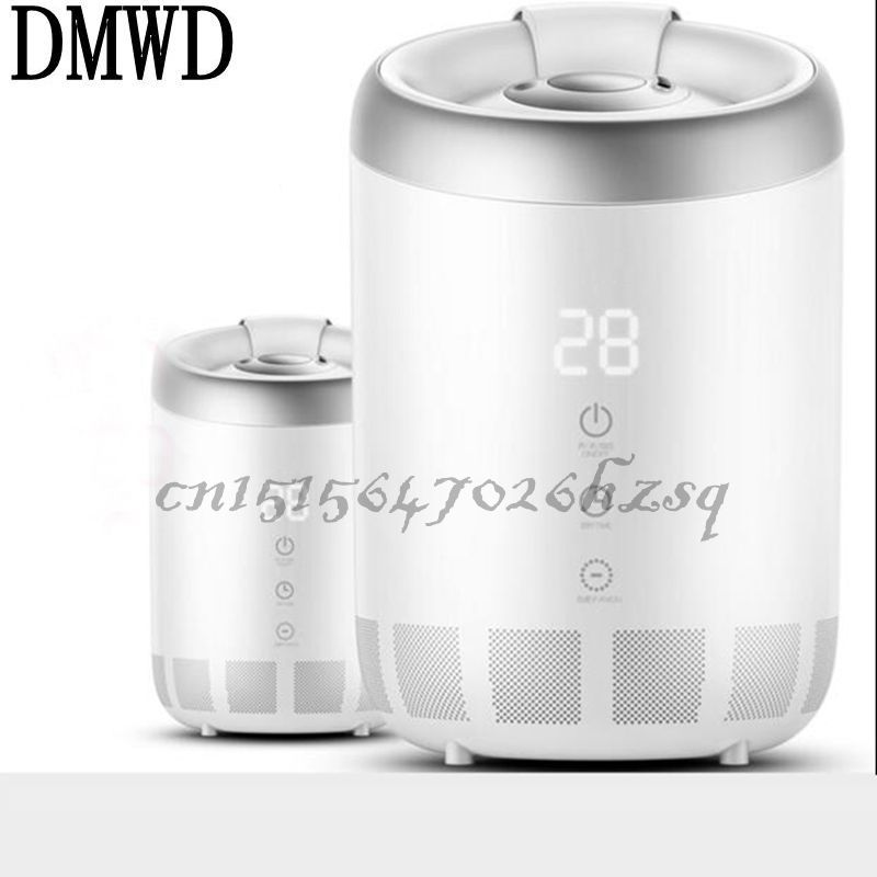 DMWD 25W 2.6-4L Household Electric Anion Ultrasonic Humidifier White Air purifier Mute Waterless Auto Power-off Mist maker home tabletop ultrasonic humidifier 5l touch type timing mist maker mute air purifier auto power off protection 300ml h