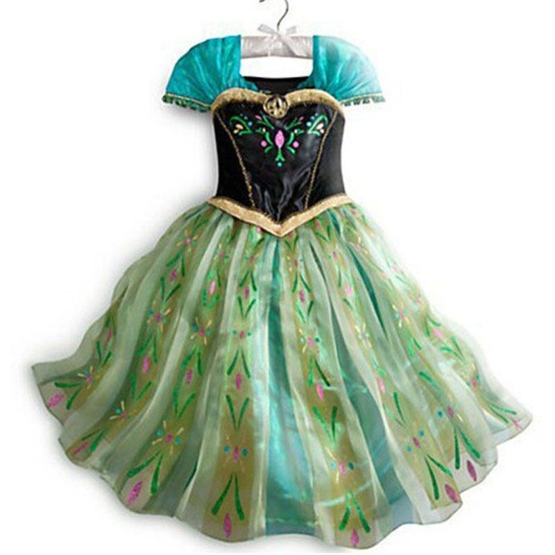 Frozen Dresses for Girls Princess Elsa Anna Dress Elsa Cosplay Costumes  Birthday Party Dress Sofia Princess 827450ea23
