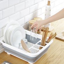 2019 New Kitchen Drain Folding Rack Dish Cutlery Storage Box Collapsible Drainer Stand Cup Holder
