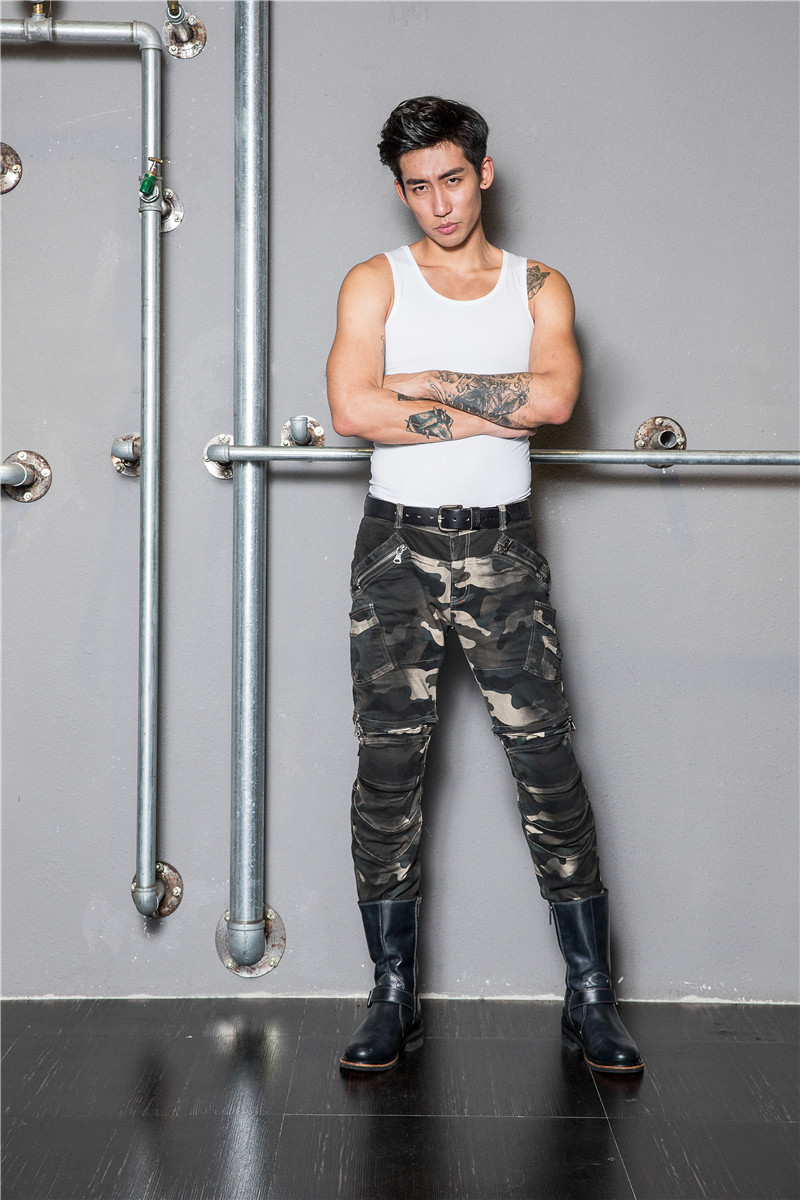 new pantalones man motorcycle new uglybros 2016 motorcycle camouflage font b jeans b font pants drop