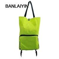 Lightweight Foldable Shopping Trolley Wheel Folding Bag Traval Cart Luggage Pop