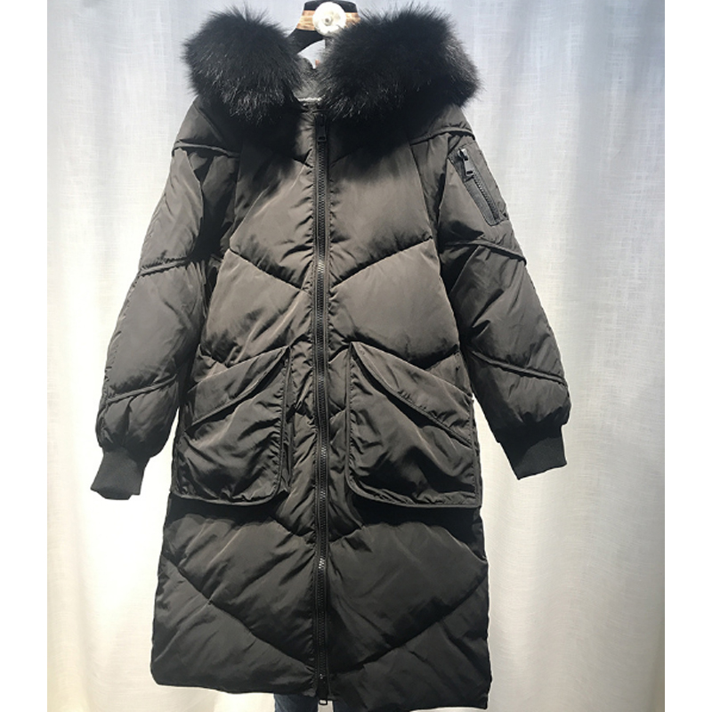 Maternity winter coat 2017 down jacket women long loose thick Real fur collar thin Look Warm pregnant women Coat Gray Plus size maternity winter coat pregnant women pregnant women cotton black coat large size coat tide tan collar thick long hooded jacket