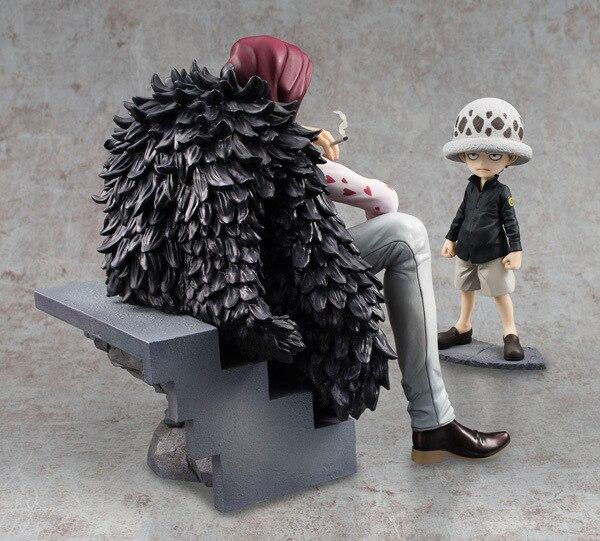 SAINTGI One Piece Japanese Anime Trafalgar Law Corazon Childhood Scenes Onepiece New World Figure Toys 16cm PVC Kids Model