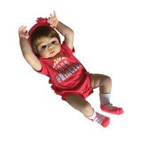 Новый список эксклюзивная распродажа 57 см каштановые волосы Цвет младенцев реборн полное тело силикон Boneca Reborn для маленьких девочек куклы