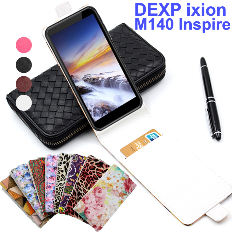 Classic Luxury Advanced Top Leather Flip Colorful Leather Cases For DEXP Ixion M140 Inspire Case Cover With Card Slot In Stock