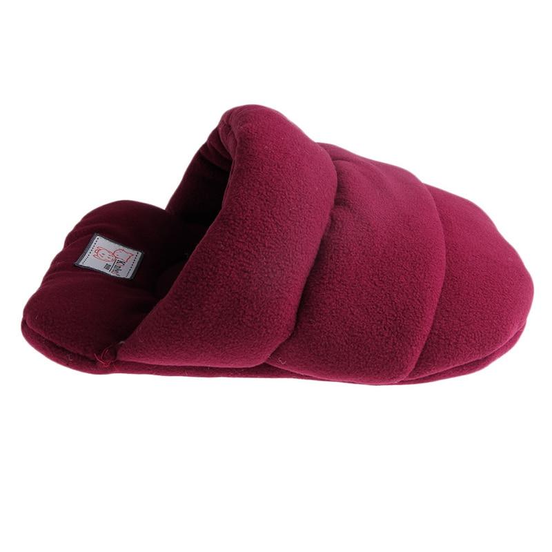 Pet Cat House Soft Warm Winter Dog Cat Bed Flip Flop Cave Dog House Cute Kennel Nest Dog Fleece Cat Bed Yx# #5