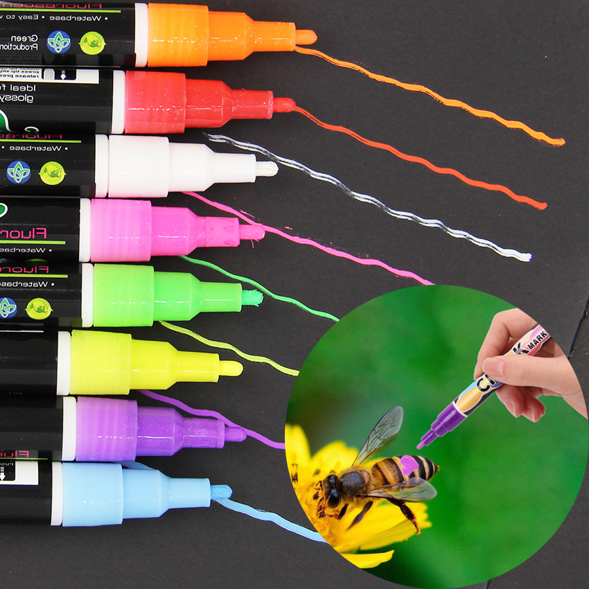 1PC Queen Bee Marking Marker Pen Set 8 Color Beekeeping And Bees Tools Queen Bee Mark Plastic Marks Pen Bee Tools