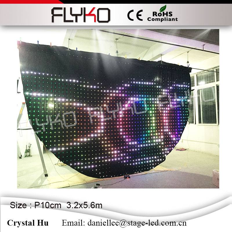 DJ Booth Deck Curtain, LED lighting, DJ Accessories, Disco, Wedding, Party Lights P10 3.2x5.6m Semicircle