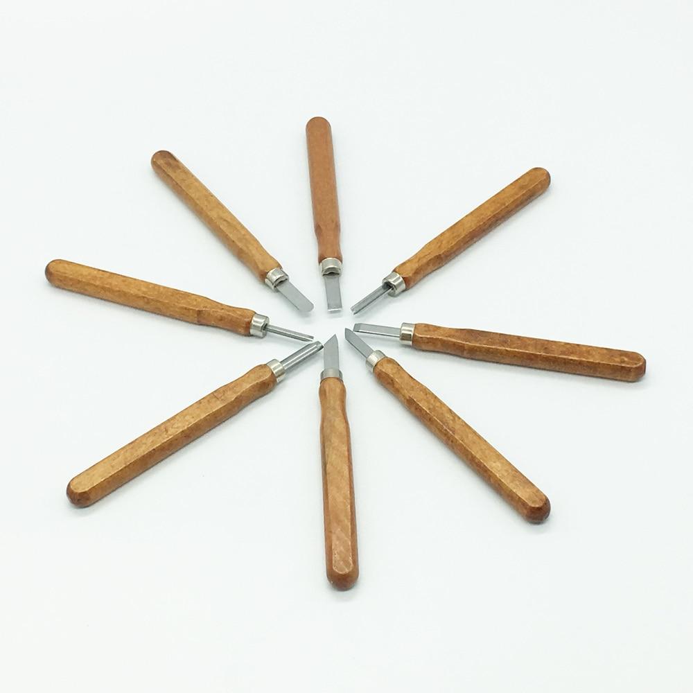 8tk puidust nikerdusriistade komplekt nuga Minipeitel tellitud - Tööriistakomplektid - Foto 2