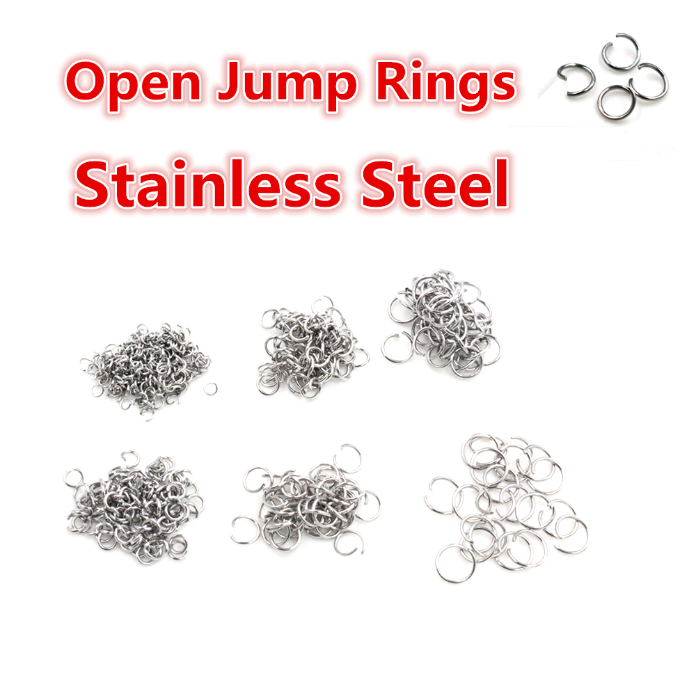 Open Jump <font><b>Rings</b></font> 200pcs/lot <font><b>3</b></font> 4 5 6 7 8 <font><b>mm</b></font> Open JumpRings for DIY Jewelry Making Necklace Bracelet Findings Connector Supplies image