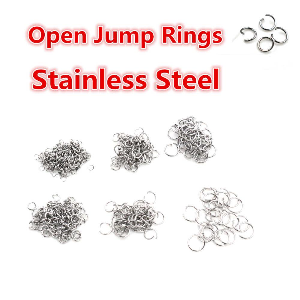 Otwarte Jump Rings 200 sztuk/partia 3 4 5 6 7 8 mm otwarte JumpRings dla DIY tworzenia biżuterii naszyjnik bransoletka ustalenia złącze dostaw