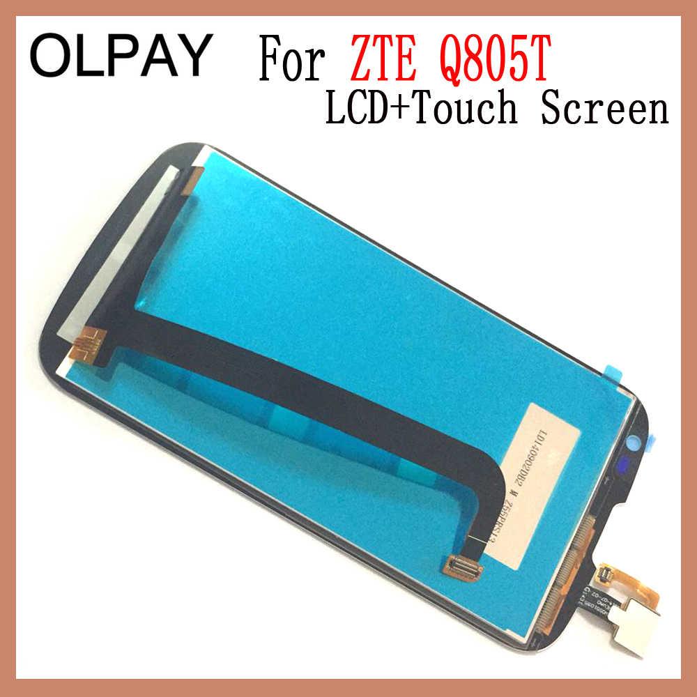 OLPAY 5,0 ''para ZTE Q805T teléfono móvil pantalla LCD + asamblea de pantalla táctil digitalizador vidrio de repuesto herramientas libres