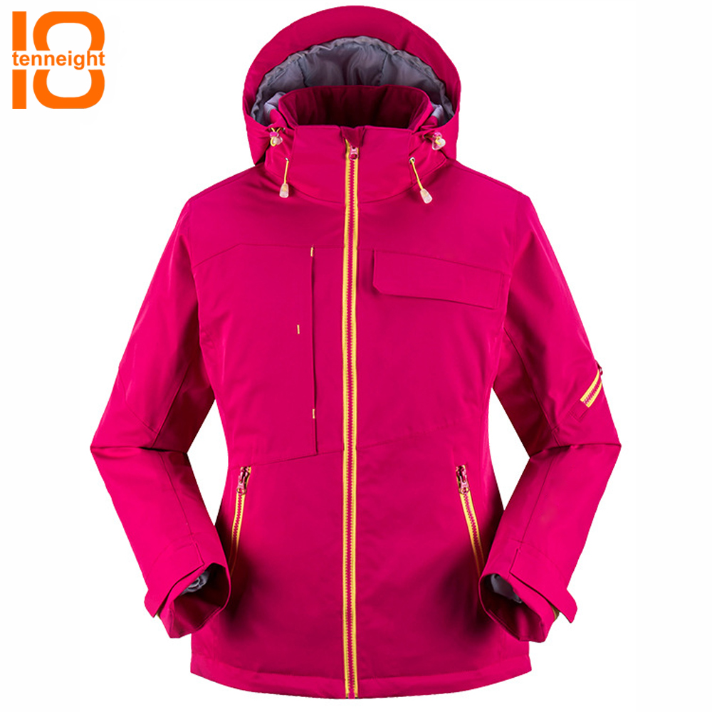 TENNEIGHT Ski Jacket Women Winter Coat Outdoor Sport Snow Skiing Snowboard hooded jacket Female windproof warm hiking ski suitTENNEIGHT Ski Jacket Women Winter Coat Outdoor Sport Snow Skiing Snowboard hooded jacket Female windproof warm hiking ski suit