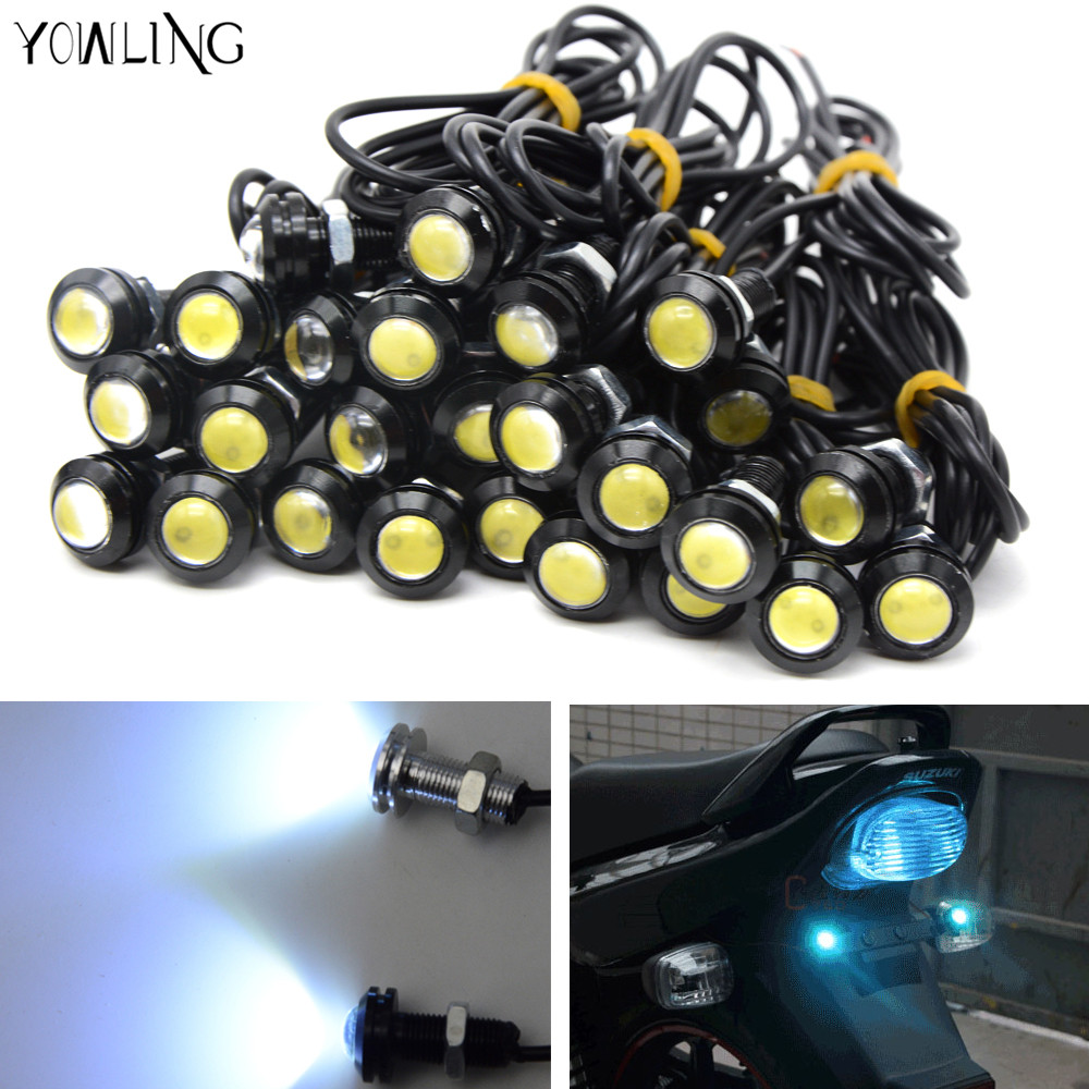 Motorcycle Turn Signal Light Flexible 12 LED Turn Signals Indicators Universal Blinkers Flashers For Yamaha MT07 MT09 YZF R3 R6