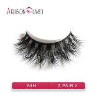 Arison 2pair Sexy 100 Handmade 3D Mink Hair Beauty Thick Long False Mink Eyelashes Fake Eye