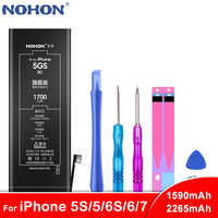 NOHON Battery For iPhone 6 6S 5 5S 5C 7 Batteria For iPhone6 iPhone6S iPhone5 iPhone5s iPhone7 Batteries Max Capacity Free Tools