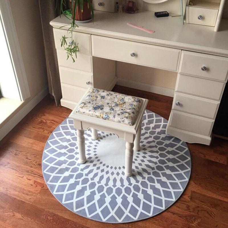 Polyester créatif 80-120 cm tapis ronds pour salon ordinateur chaise petits tapis enfants jeu tente tapis de sol tapis de Yoga antidérapant