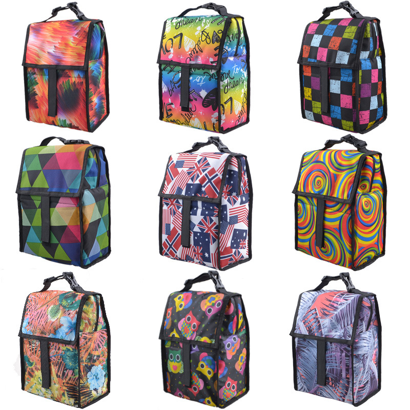f6e5c3337c99 US $20.99 |12 Designs Oxford Cloth Cooler Box Portable Insulated Lunch Bag  Thermal Food Bags Women Kids Men Cooler Box Tote Picnic Bags-in Storage ...
