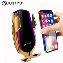 Automatic Induction Qi Car Wireless Charger Mount Bracket Charging For IPhone X XR XS Max 8 Samsung S9 S8 Note 9 Air Vent Holder aiyima qi wireless charger for iphone xs max x xr 8 automatic induction car phone holder fast charging for samsung note 9 s9 s8
