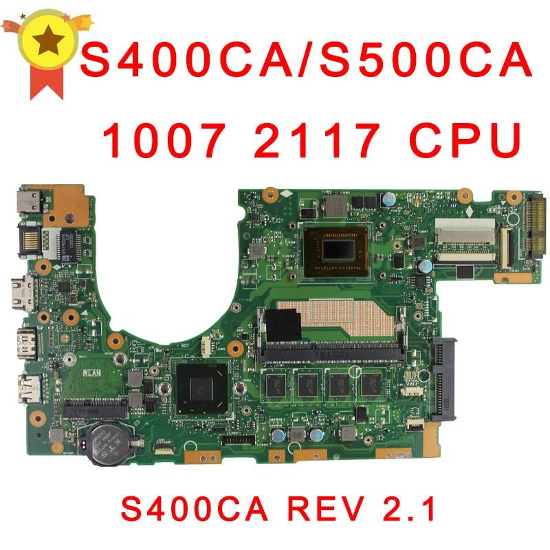 for asus s400c s500c S400CA S500CA MAIN BOARD original motherboard with 2117 1007 CPU 100% Test ok цена 2016
