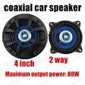 Promoción 1 Par 4 Pulgadas Del Coche Sistema de Sonido Coaxial Auto Audio Altavoces Altavoz de 2 vías Del Coche Del Automóvil 2x80 W