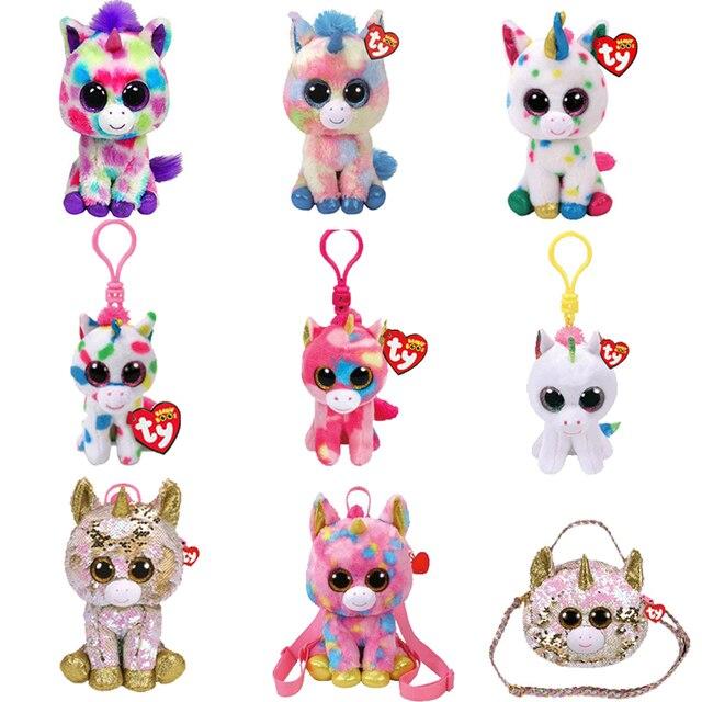 Ty Vaias Gorro Unicórnio Boneca de Brinquedo de Pelúcia Animal 15 centímetros