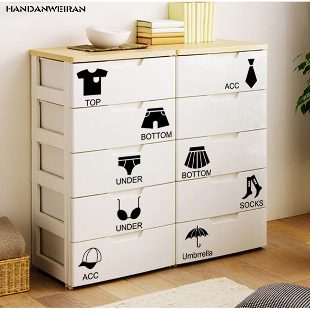 Clothes and Shoes Wardrobe Cabinets Decorative Wall Stickers paper DIY  removable Home Furnishing Decorative Stickers