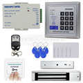 DIYSECUR Remote Control Full Complete Rfid Card Door Access Control Kit + 280KG Electromagnetic Lock for Home Improvement