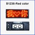 12x36 пикселей красный цвет ПРИВЕЛО имя заказ Имя карты мини светодиодный дисплей панели Тегов Сообщение Вывеска бизнес карты в наличии