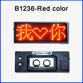12x36pixel red color LED name badg Name card mini led display panels Tag Message Sign Board business card in stock