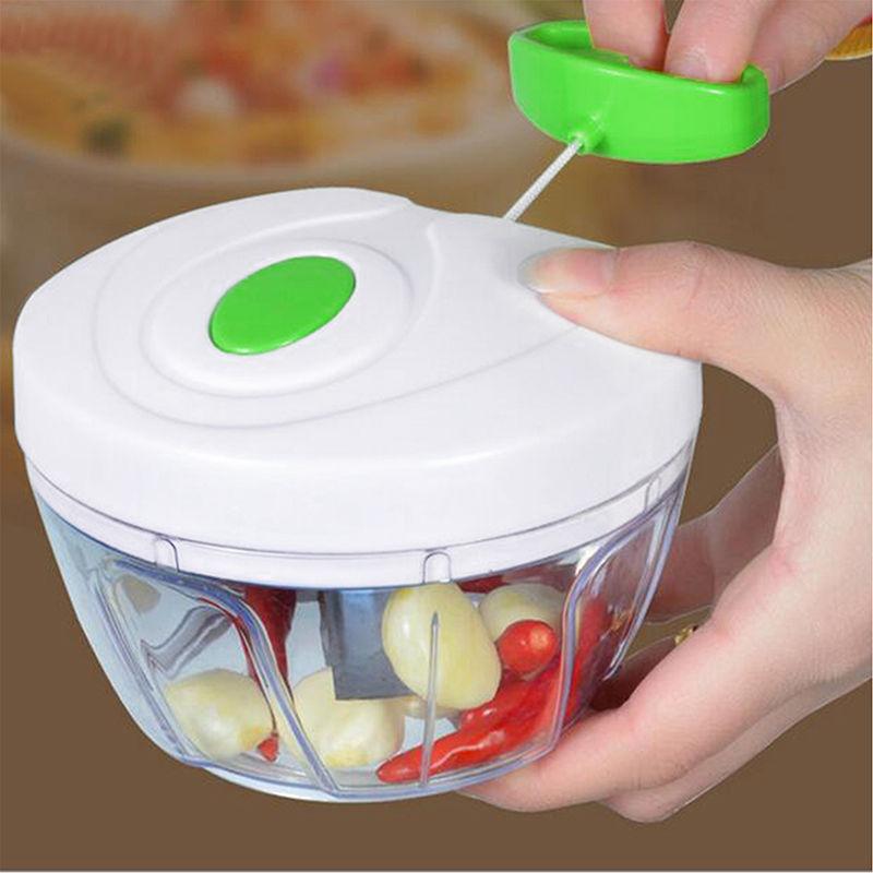 Manual Food Processor Shredder Vegetable Meat Chopper Slicer Mincer Tool