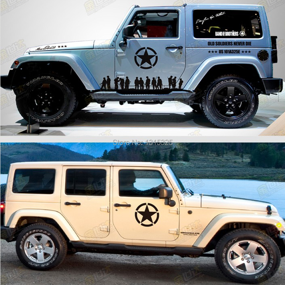 5 Star Jeep Dealers Colorado: The US Army Star Sticker Car Whole Body Decal For JEEP