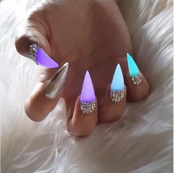 10 couleurs néon brillant vernis à ongles poudre lueur dans la poussière sombre Pigment lumineux Noctilucent Fluorescent art des ongles poudre de paillettes