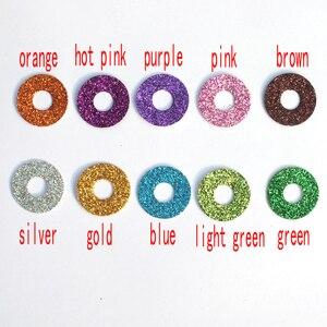 Image 2 - 20pcs 12mm/14mm/16mm/20mm/25mm ברור טרפז פלסטיק בטיחות צעצוע עיניים + גליטר בדים לא ארוג יכול לבחור גודל וצבע