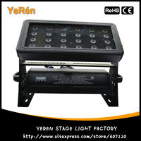 Внутреннего или открытый Мощный светодиодный проекторы свет мытья стены с 24 шт. 10 Вт RGBW 4IN1 LED лампа DJ светодиодный световой эффект
