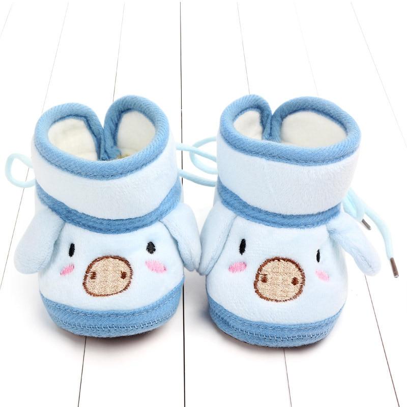 Indoor First Walkers Baby Shoes Cotton Anti-slip Booties Winter Wammer Baby Girl Boy Shoes Newborn Slippers Footwear Booties (15)