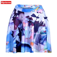 Hipsterme Skirts Plus Size Sexy Women S Summer Cute Cartoon Characters Skirts 3D Digital Printing Skirts