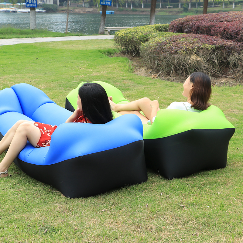 2017 voyage paresseux sac en plein air gonflable air canapé sac de couchage Randonnée de Camping chaise Banane Portable Plage Canapé gonflable Transat