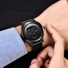 Skull Design Mens Sports Quartz Watch