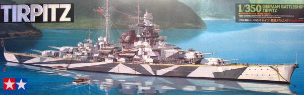 Tamiya 1/350 78015 Tirpitz German Battleship Model Kit