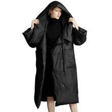 Brand Plus Size 2019 Winter Jackets Women Fluffy Duck Down Coat Women Vintage Long Warm Hooded Loose Female Snow Outwear AO675 цены онлайн